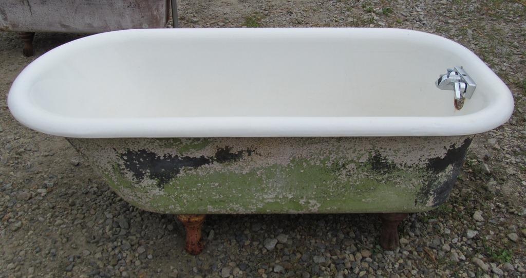 salvaged tub CJT