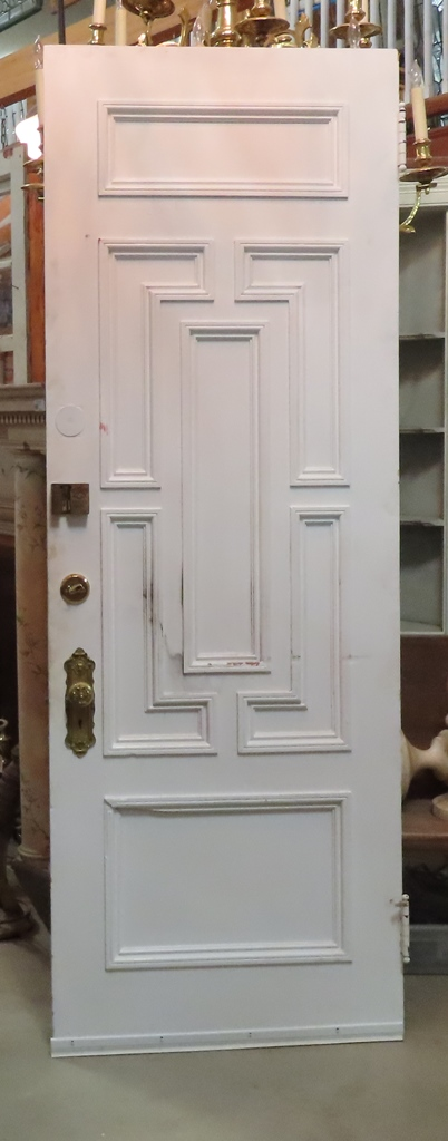 Single Light Oak Door - Nor'East Architectural Salvage Of South Hampton, NH. Antique