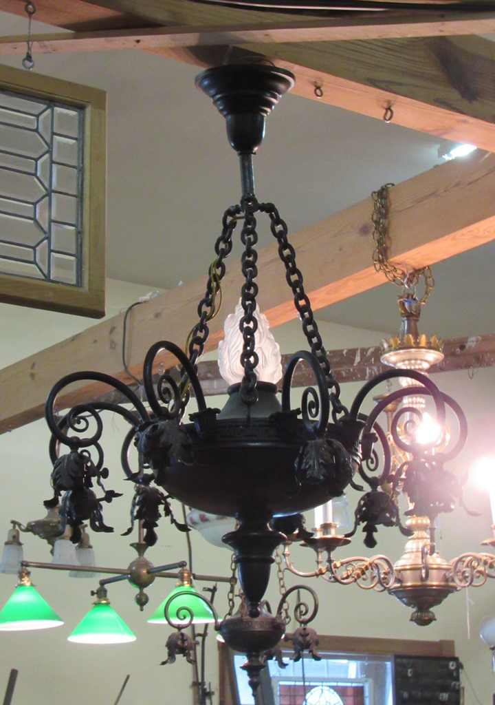 brass 6 arm chandelier PTT