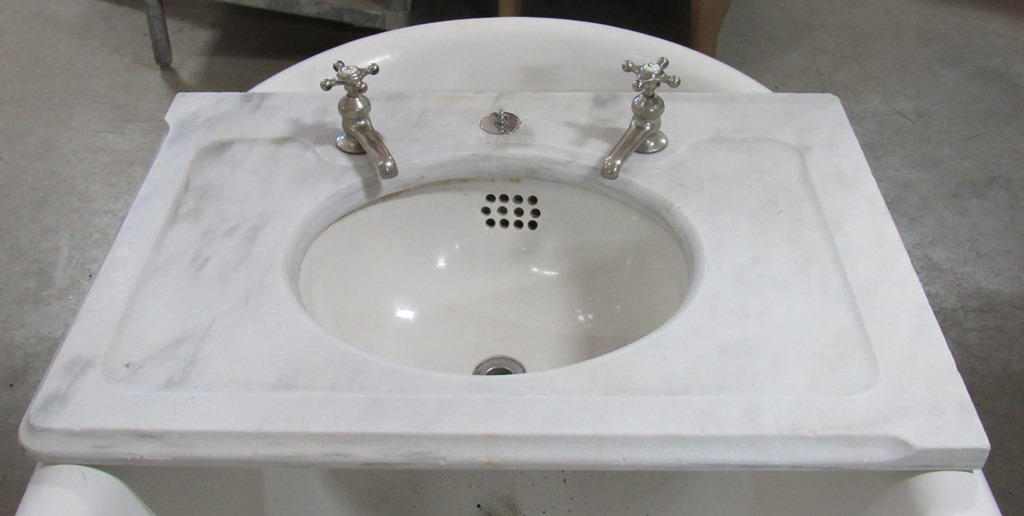 center wall marble sink CJT