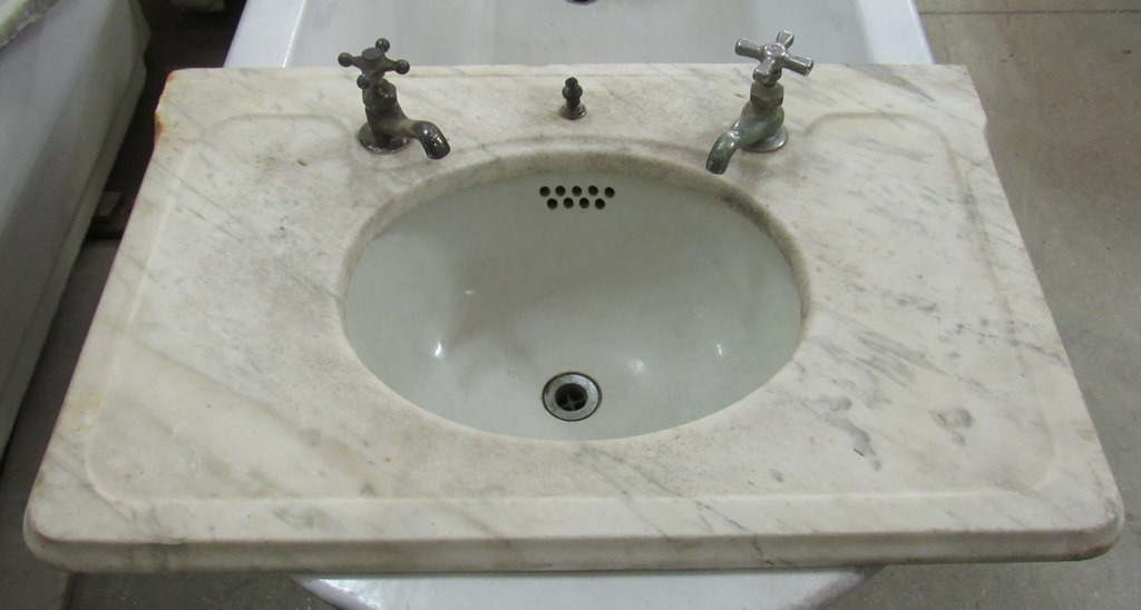 center wall marble sink JJT