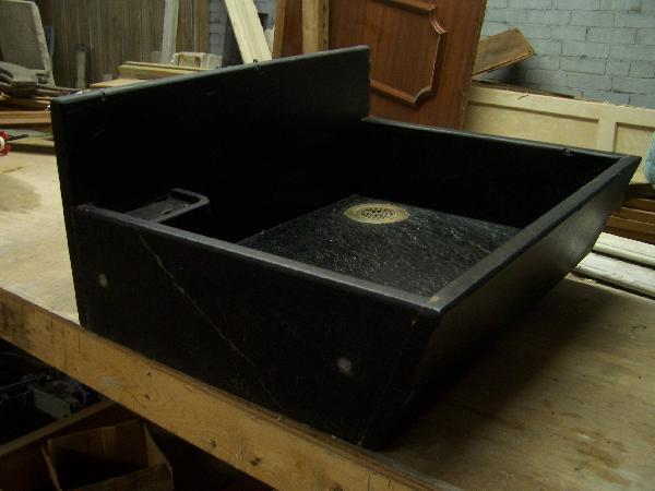 another single bay soapstone kitchen sink